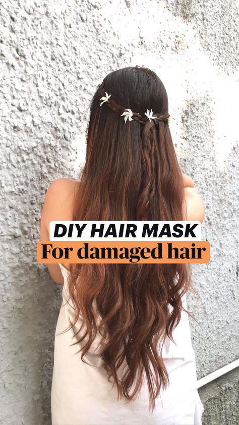 DIY HAIR MASK - for damaged, dry, dull hair✨