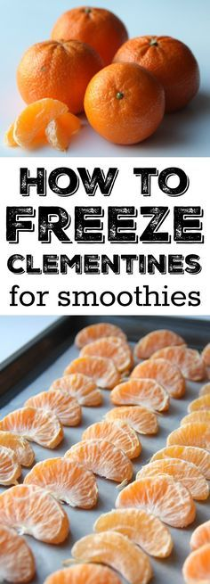 How to freeze clementines for smoothies