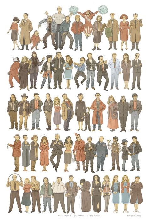 Twin Peaks superprint - ugh, this is amazing. Plus, you can get prints of smaller trios.