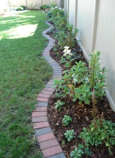 Landscaping Edging Ideas Brick Lawn 56 Ideas Landscaping Brick Landscape Edging Brick Garden Brick Garden Edging