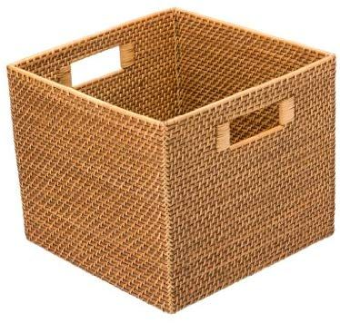 Amazon Com Kouboo 1060036 Square Rattan Utility Basket 13 X 11 X 13 Honey Brown Home Improvement With Images Storage Baskets Wire Basket Storage