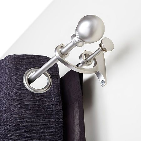 umbra diverge double curtain rod one