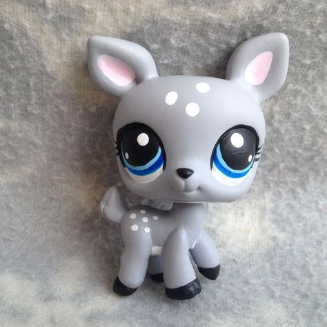 Littlest Pet Shop OOAK custom grey gray black white deer blue eyes | Toys & Hobbies, Preschool Toys & Pretend Play, Littlest Pet Shop | eBay!
