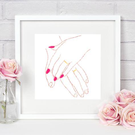 Newlywed *digital download* by FunkyPandaPrints on Etsy #newlyweds #firstanniversary #love #funkypandaprints #design #art #treatyourself #whynot #cheapandcheerful #giftideas #lastminutegift #diy #homedecor #digitalprints #printable