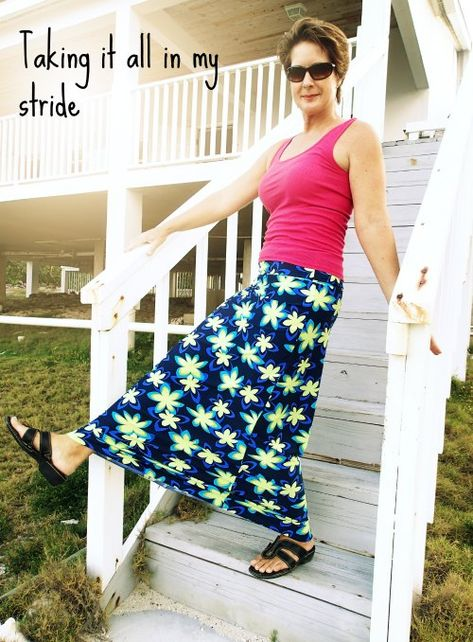 How to make the perfect fitting maxi skirt without it being too flared or too tight.