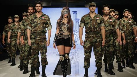 Syrian 'regime soldiers on catwalk' at controversial Beirut