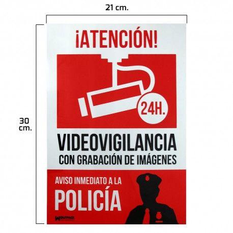 Cartel Alarma Conectada Aviso A Policia 30x21 Policia Aviso Rutinas Escolares
