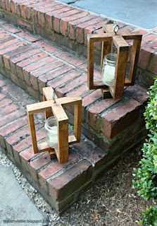 Outdoor Porch Lanterns Made From Pallets