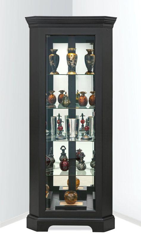 Contemporary Curved Corner Curio Cabinet | Cabinet Furniture, Accent  Furniture And Corner