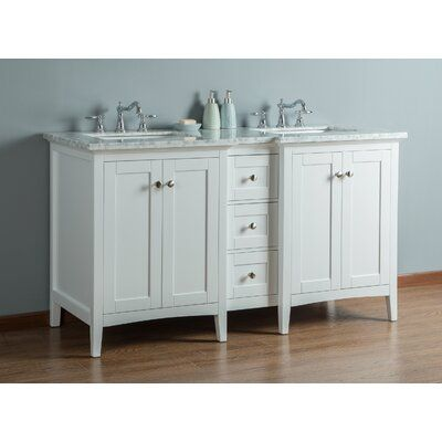 Breakwater Bay Chelton 60 Double Bathroom Vanity Set Base Finish