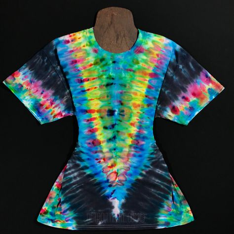 4dae779e43e3 Size Large Tie Dye Shirt • Psychedelic Symmetry Ice Dye Design – Detroit Tie  Dye Co.