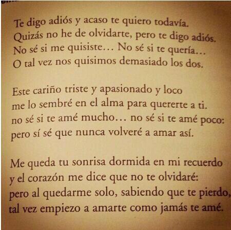 Una Carta Para Un Amor Imposible Lindos Poemas De Despedidas De Amor Imposible Citas De Poemas