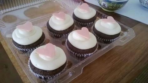 brownie cupcakes with lemon cream cheese frosting