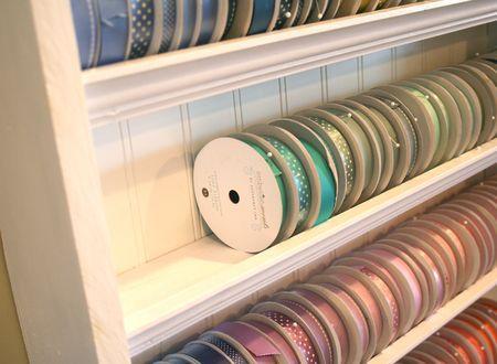 How to make ribbon storage shelves.  LOVE IT!