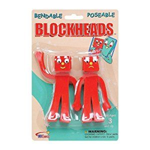 Amazon Com Nj Croce Gumby Blockheads G J Bendable Figure Pair