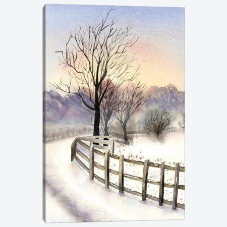 Winter Scene Canvas Wall Art By Olga Shefranov Icanvas In 2021 Nature Watercolor Art Nature Watercolor Watercolor Paintings Nature