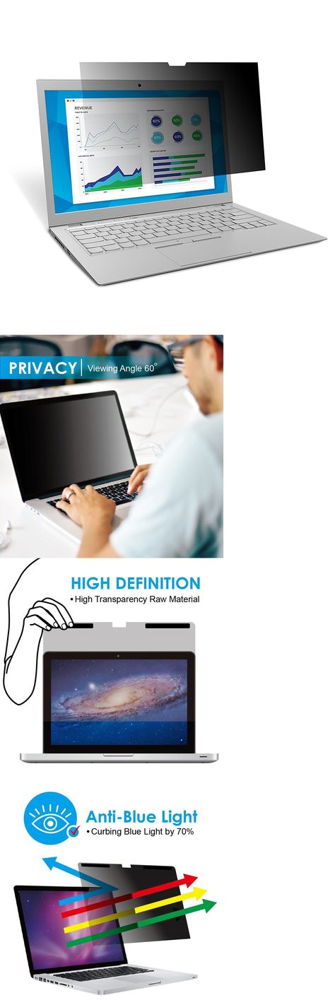"""Anti-Spy Privacy Screen Protector For Macbook Pro 13/"""" Touch Bar A1708 A1706"""
