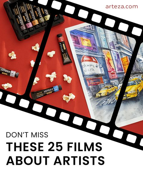 If you're an artist then you probably love movies about artists. Whether they be romantic or funny, we've collected our top 25 Don't-Miss Movies About Artists in this blog post!   So, grab the popcorn and add them to your watch list today.