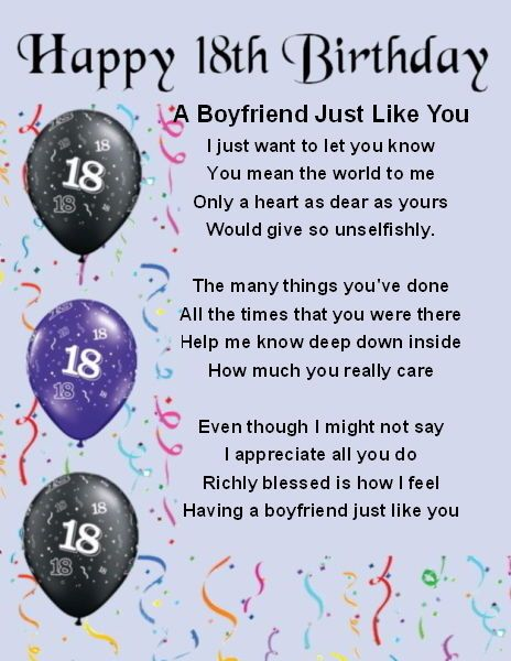 Gift Ideas For Boyfriends 18th Birthday