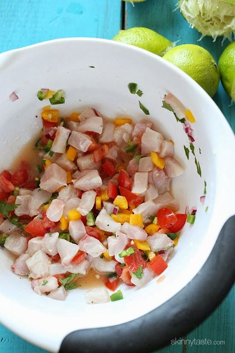 """This popular Peruvian fish dish is """"cooked"""" in lime juice along with onions and cilantro – the results are  bright and refreshing! #Lent"""