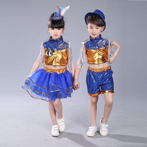 Fashion Child Modern Dance Costume Boy Jazz Dance Costume