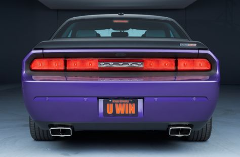 Hemi Challenger 2013 rear end...what cars under it's 700 hp will probably see as they are passed on the street. http://www.winthemopars.com