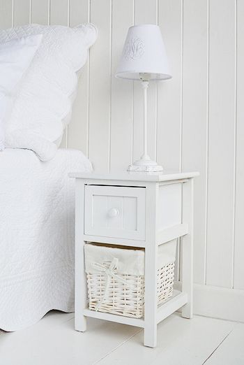 The White Lighthouse Furniture Bar Harbor Small Narrow Bedside