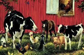 Farmyard Animals Jigsaws Google Search Farm Mural Animal Mural Farm Animal Mural
