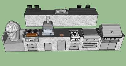 Outdoor Kitchen Planning Design Service Free 3d Sketch Bbq Guys Kitchendesign3dfree Outdoor Kitchen Plans Kitchen Design Plans Outdoor Kitchen Design