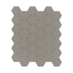 Emser Zone Taupe Matte 2 Hex Porcelain Mosaics Emser