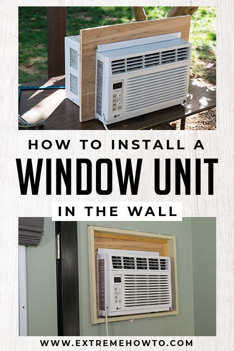 Installing A Window Ac In The Wall Diy Home Improvement Window