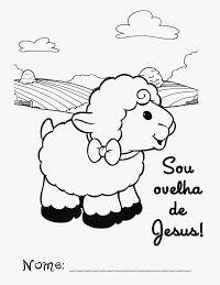 Linda Oveja Para Colorear Artesania Biblica Lecciones Biblicas Para Ninos Ninos Cristianos