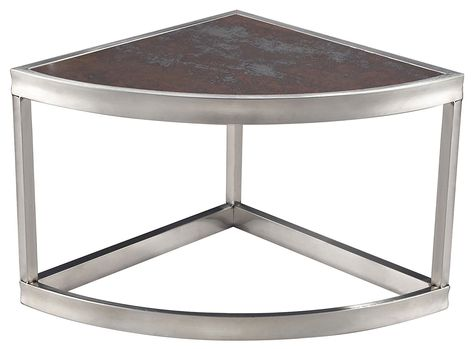Sterling 6043641 Sorrento Contemporary Stainless Steel Corner Shelf With Ceramic Top 12 Inch New And Awesome Product Corner Shelves Elk Home Coffee Table
