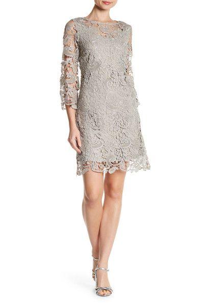Image Of Marina Metallic Lace Dress Metallic Lace Dress Dresses