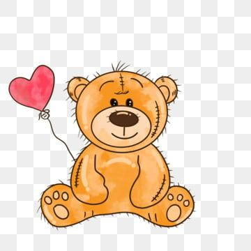 Cartoon Hand Drawn Love Balloon Teddy Bear Illustration Bear Clipart Pink Teddy Bear Png Transparent Clipart Image And Psd File For Free Download Teddy Bear Cartoon Bear Illustration Cute Love Teddy