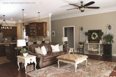Rustic Living Room Paint Colors Luxury Paint Color Sw Windsor Greige Traditional Rustic Living Cat Ruang Tamu Ide Warna Cat Ruang Tamu Ruang Tamu Pedesaan