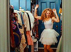 7. The infamous tutu worn by SJP was her idea and she found it in the costume room. Today the Tutu is framed and hanging in Michael Patrick King's office.