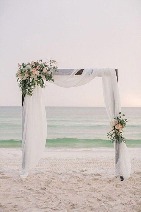 A wedding arch is the crown of a beautiful wedding. What wedding style do you have? See post for wedding ceremony archway that suits. Simple Wedding Arch, Wedding Ceremony Arch, Wedding Ceremony Flowers, Wedding Bouquets, Wedding Bride, Beach Ceremony, Wedding Beach, Wedding Ideas, Wedding Arbors