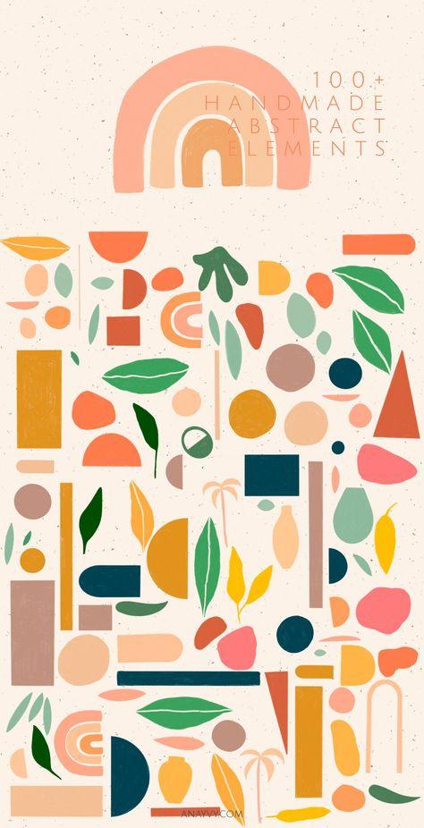 handmade geometric abstract shapes