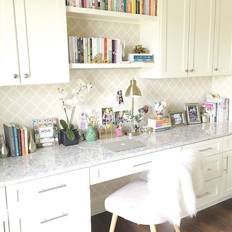 Home Office Cabinet Countertop Ideas