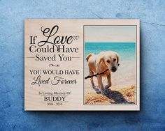 Pet Memorial Gift For Loss In Memory Of Dog By Woodlifeprints