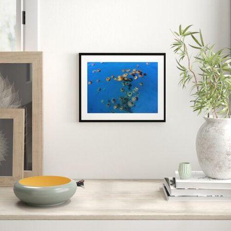 East Urban Home 'Jellyfish, Cotylorhiza Tuberculata, Jellyfish Bloom, Mediterranean, Greece' Paintin