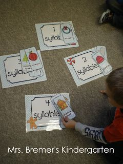 Kindergarten rhyming and syllable activity.  ELA.4.130 Name sounds heard in the environment  ELA.8.46 Clap out syllables in word songs