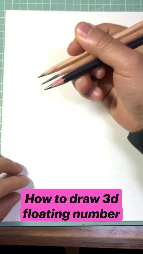 How to draw 3d floating number