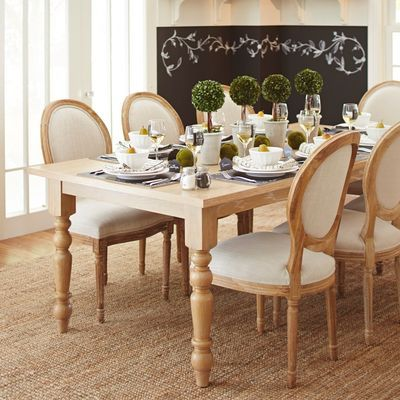 Torrance Natural Whitewash Turned Leg Dining Table Pier 1 French Country Dining Set French Country Dining Country Dining Rooms