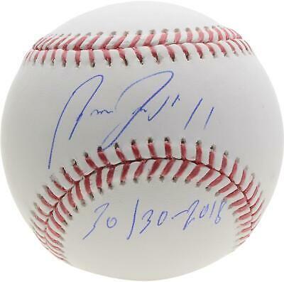 Jose Ramirez Cleveland Indians Signed Baseball 30 30 2018 Insc Fanatics In 2020 Cleveland Indians Baseball Signs Baseball