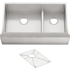 Kohler Strive Undermount Single Bowl Kitchen Sink With Basin Rack