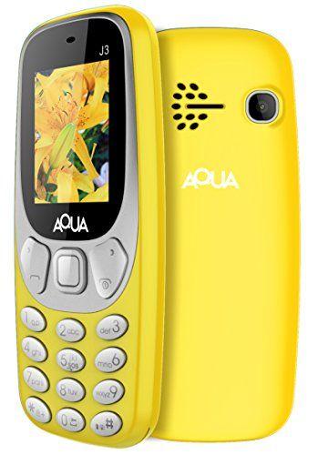 Aqua J3 - 1 8 Inch Display Dual SIM Basic Keypad Mobile