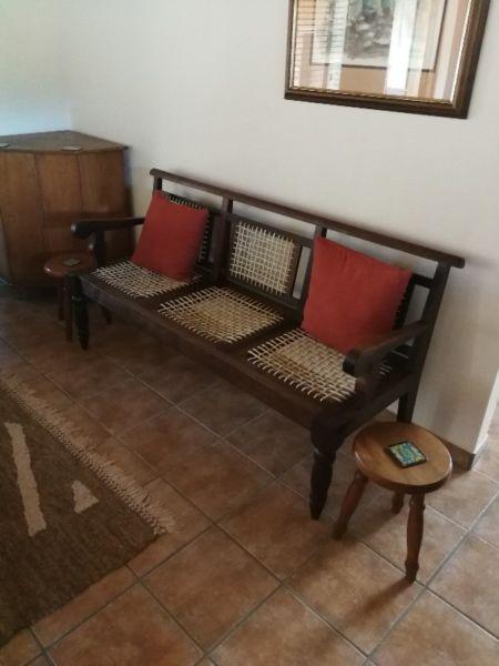 Stinkhout Riempies Bank Home Decor Decor Chair