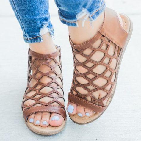 Summer Honeycomb Sandals   Zapatos de moda, Zandalias de